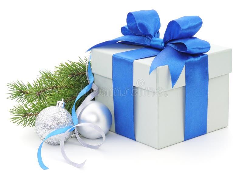 Download Cadeau de Noël image stock. Image du bleu, vacances, argent - 45350415