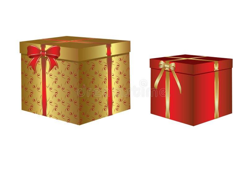 Boîte avec un cadeau de Noël
