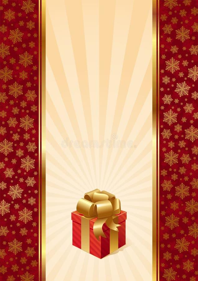 cadeau de Noël de fond illustration stock