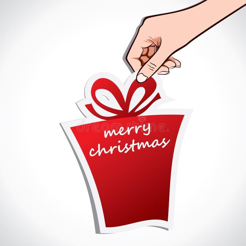 Cadeau de Noël disponible illustration libre de droits