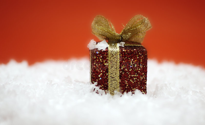 Cadeau de Noël rouge images libres de droits