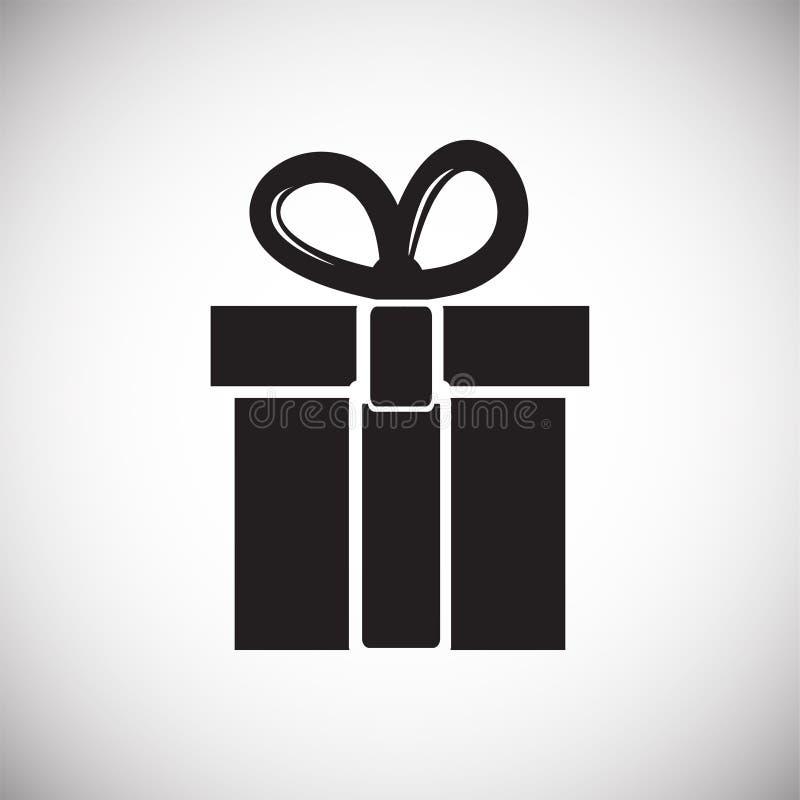 Cadeau de Noël sur le fond blanc illustration de vecteur