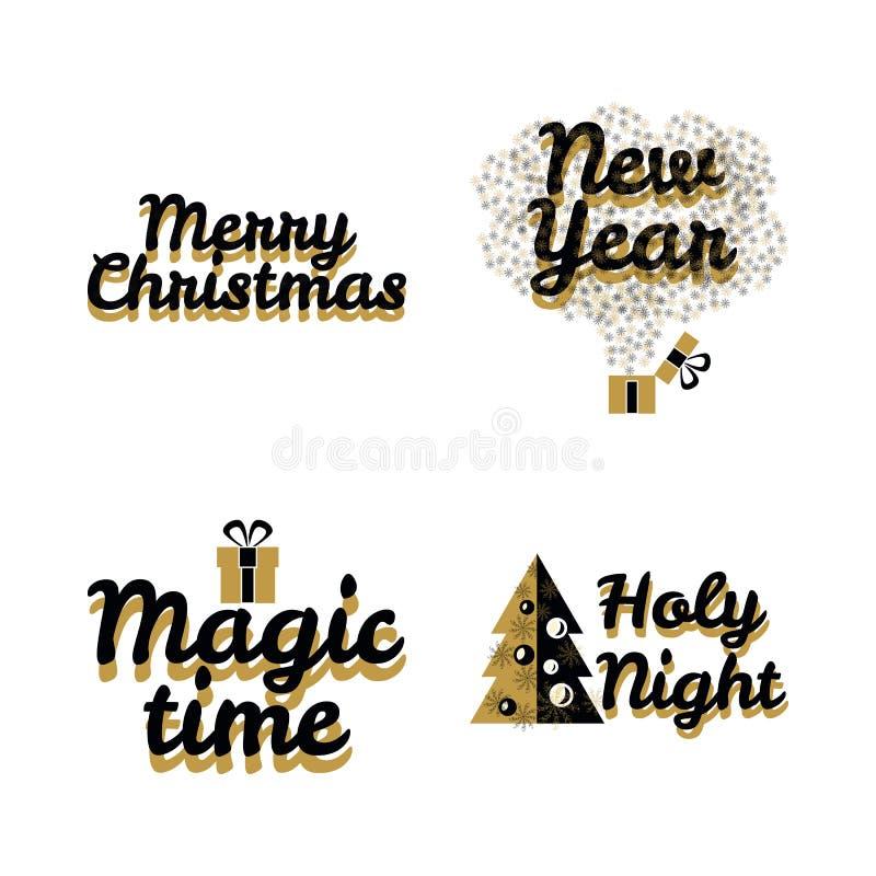 Cadeau 2018 de nouvelle année de Joyeux Noël image libre de droits