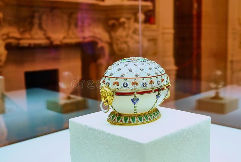 Cadeau de Pâques d'oeufs de Faberge à la famille impériale image libre de droits