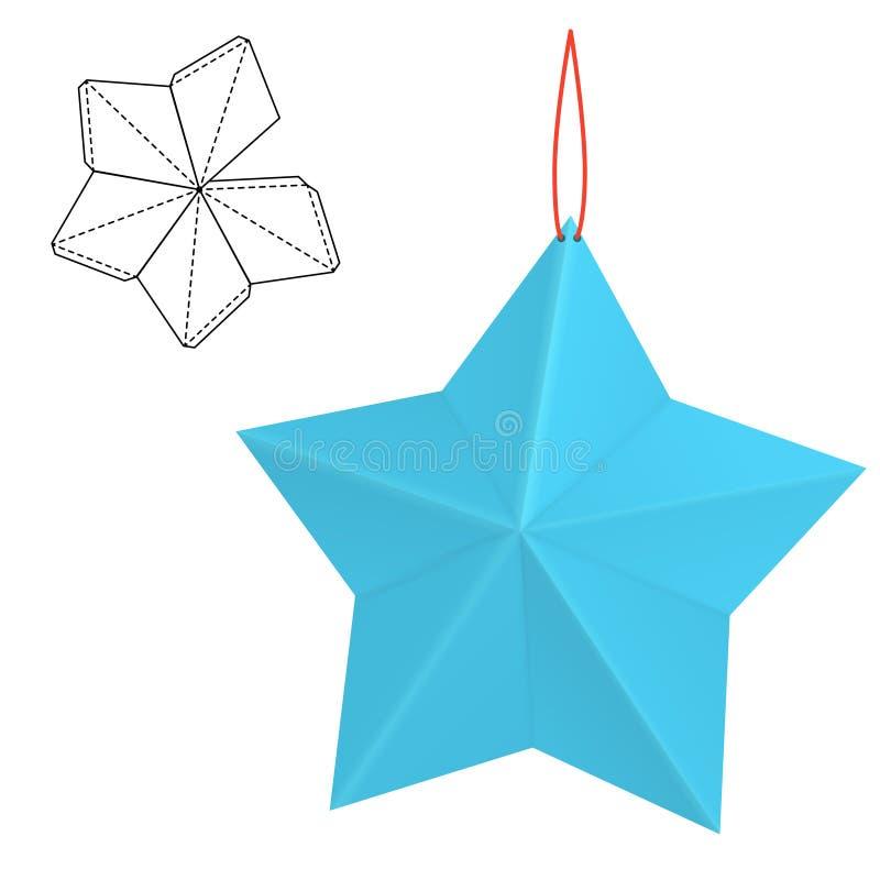 Cadeau de papier d'étoile illustration libre de droits