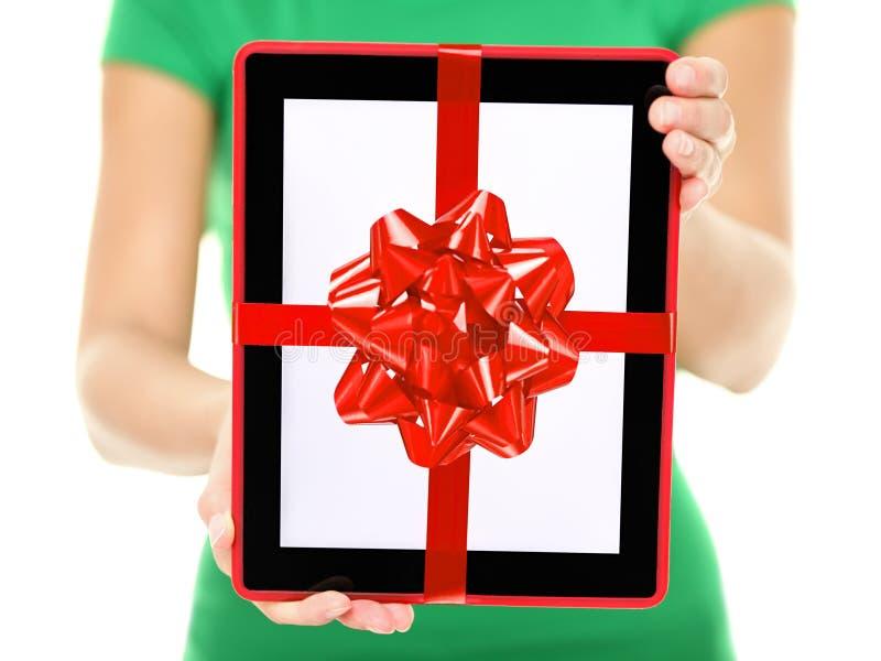 Cadeau de PC de tablette image stock