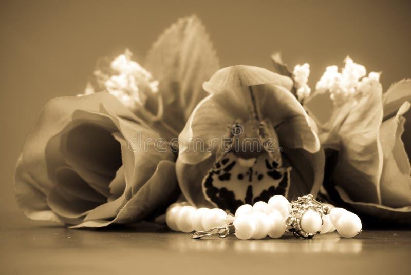 Cadeau des perles photo stock