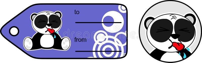 Download Cadeau Mignon Card5 De Bande Dessinée D'ours Panda Illustration de Vecteur - Illustration du collant, jeune: 45359542
