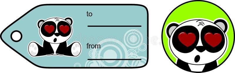 Download Cadeau Mignon Card6 De Bande Dessinée D'ours Panda Illustration de Vecteur - Illustration du mignon, humeur: 45359543