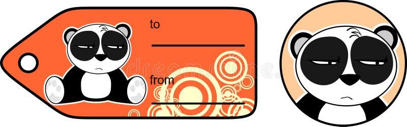 Download Cadeau Mignon Card8 De Bande Dessinée D'ours Panda Illustration de Vecteur - Illustration du ours, vecteur: 45359556
