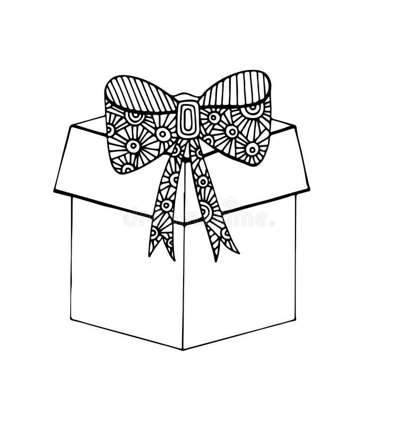 Cadeau mono de noir de couleur illustration stock