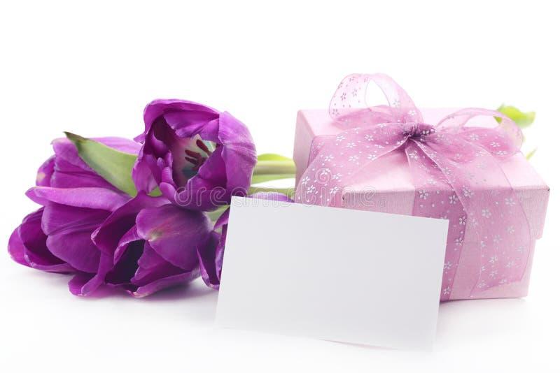 Cadeau pour le jour de mère images stock