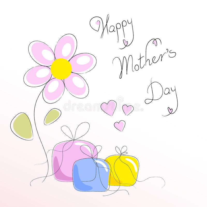Cadeau pour le jour de mère illustration libre de droits