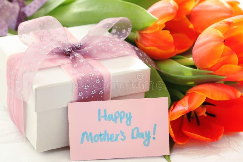 Cadeau pour le jour de mère photo stock