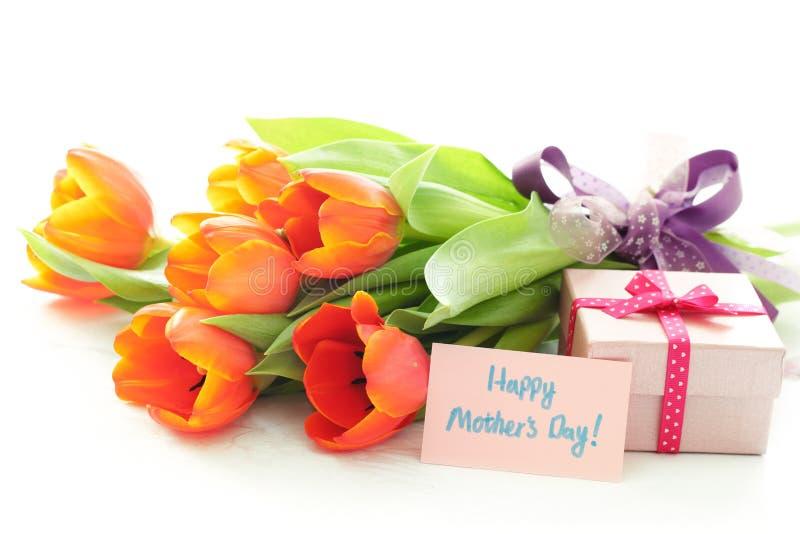Cadeau pour le jour de mère images libres de droits