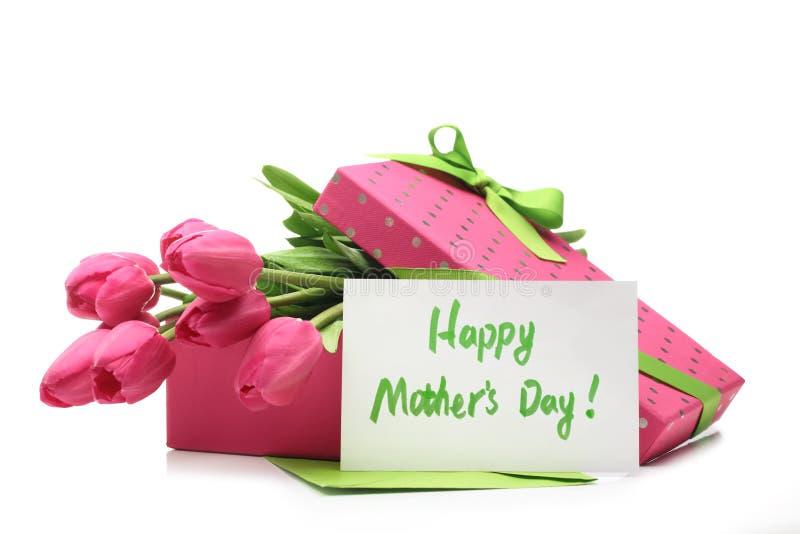 Cadeau pour le jour de mère photos libres de droits