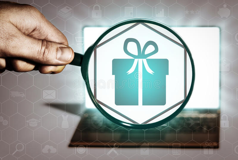 Cadeau présentant, sélection de cadeau illustration libre de droits