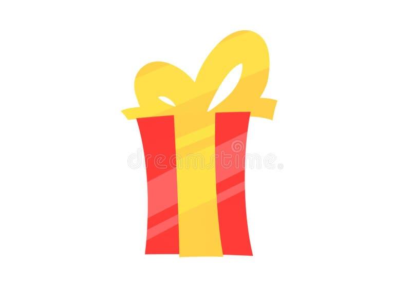 Cadeau rouge simple image stock