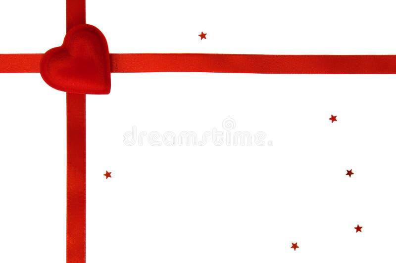 Cadeau simple du jour de Valentine d'isolement photographie stock libre de droits
