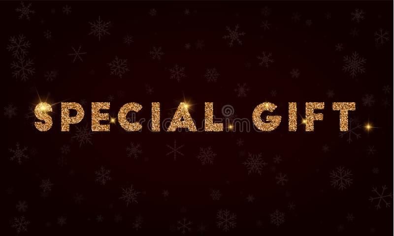 Cadeau spécial illustration stock