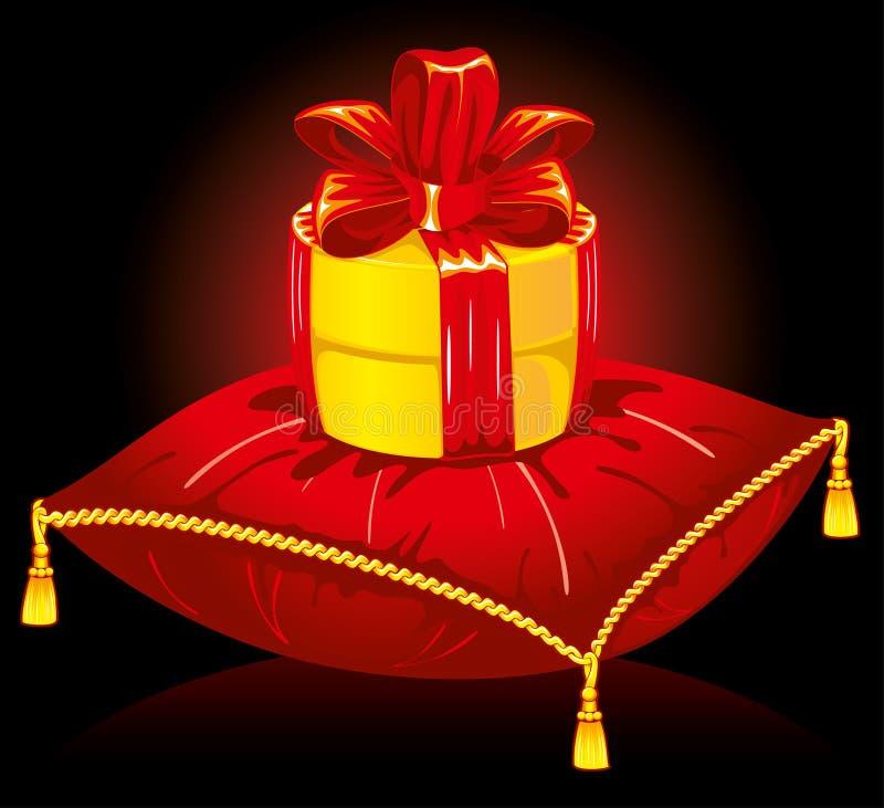 Cadeau sur l'oreiller illustration libre de droits