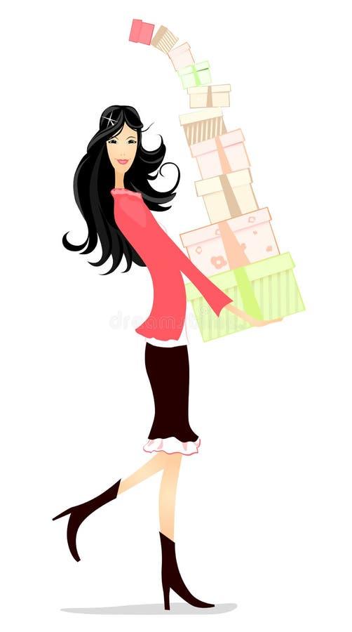 Cadeaux de fille illustration stock