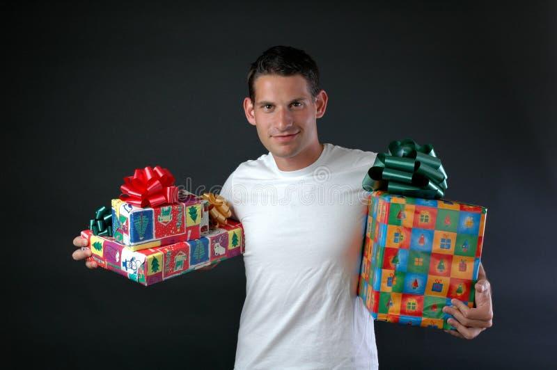 Cadeaux de Noël photographie stock libre de droits