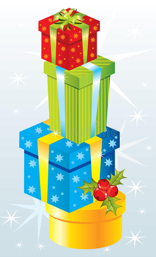 Cadeaux de Noël illustration de vecteur