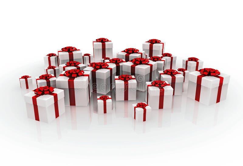 Cadeaux de Noël blanc illustration de vecteur