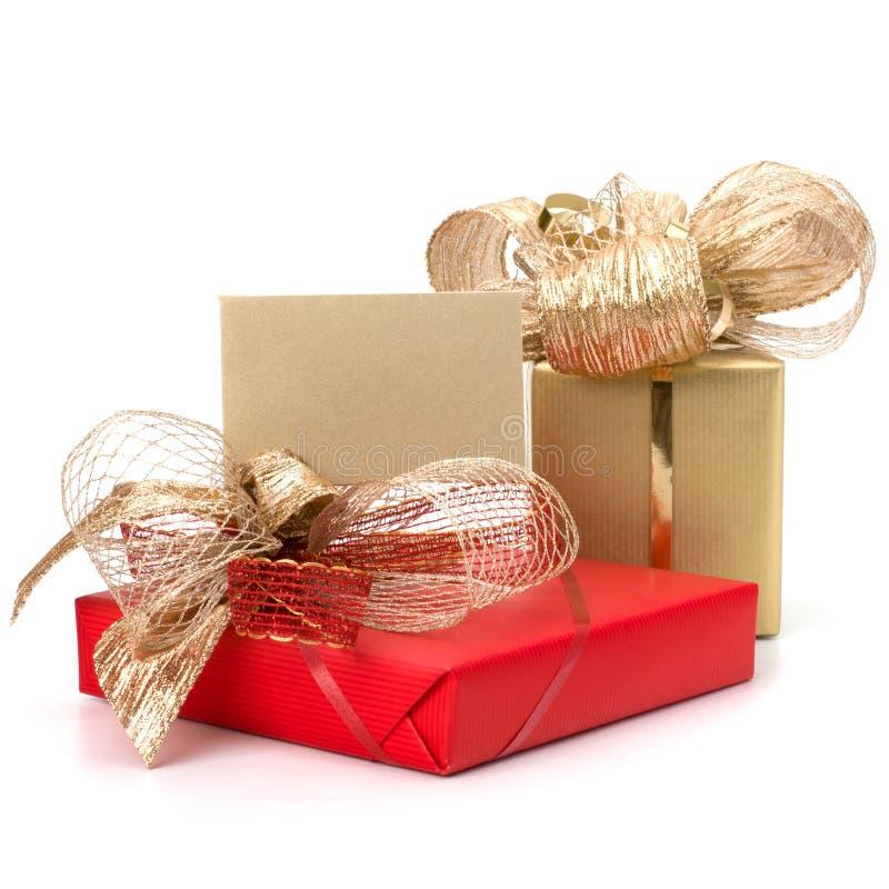 . Cadeaux luxueux avec la note photographie stock