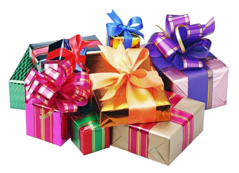 Cadeaux pendant Noël et l'année neuve photographie stock
