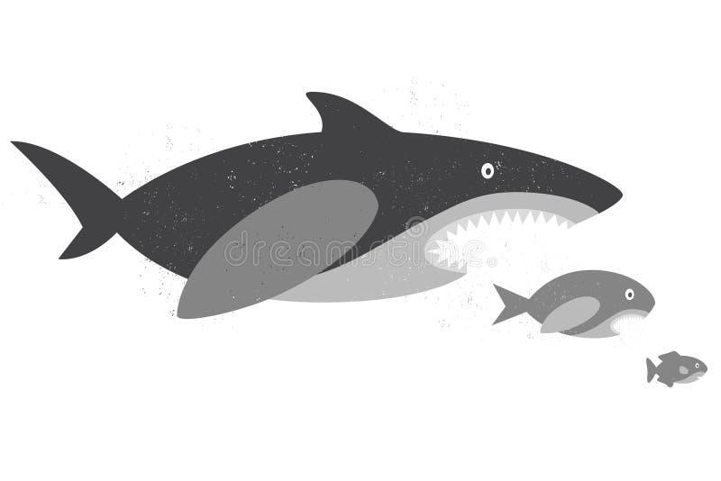 Cadeia alimentar ilustração stock