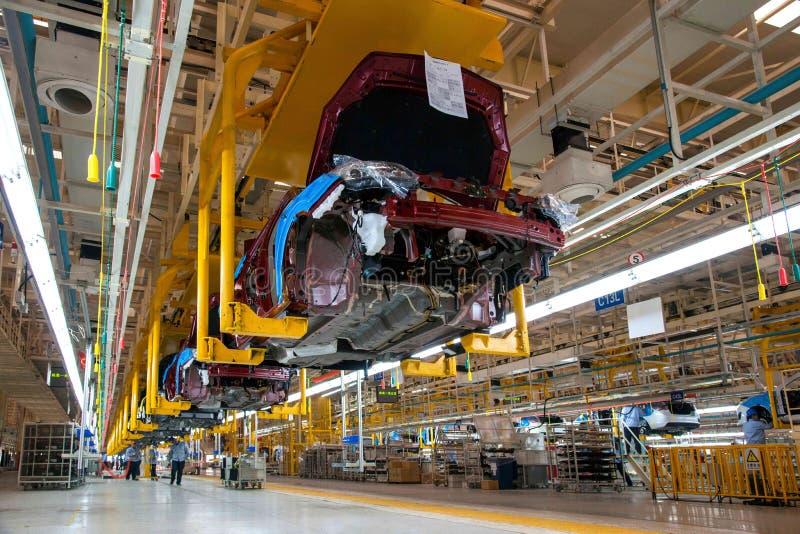 Cadeia de fabricação do carro de Changan do ramo do Pequim do automóvel de Changan fotos de stock