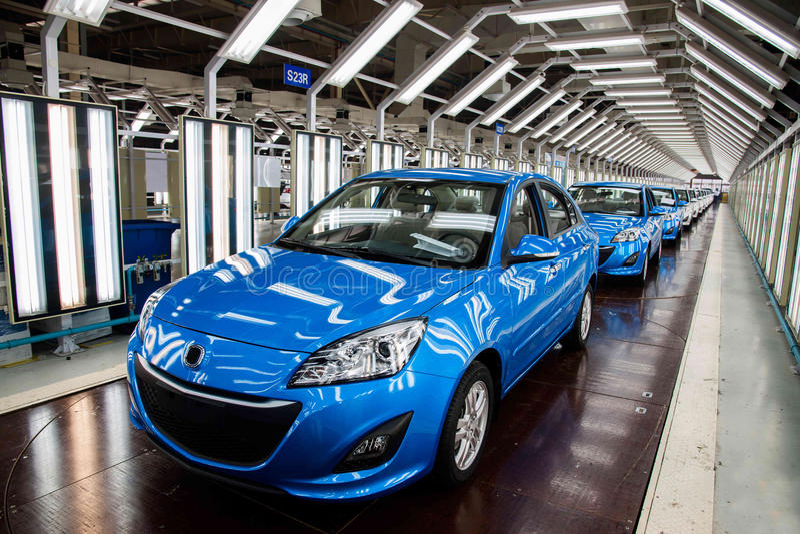 Cadeia de fabricação do carro de Changan do ramo do Pequim do automóvel de Changan imagem de stock royalty free