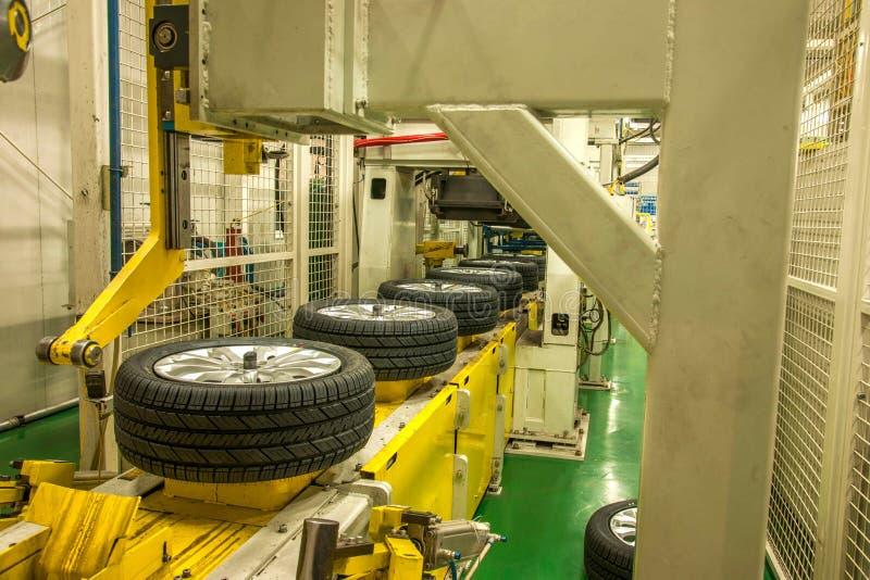 Cadeia de fabricação do pneu de automóvel do ramo de Chongqing Changan Minsheng Logistics Chongqing imagens de stock