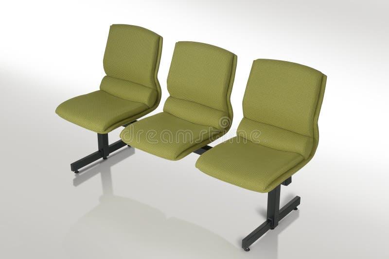 Download Cadeira imagem de stock. Imagem de verde, descanso, coxim - 12806841