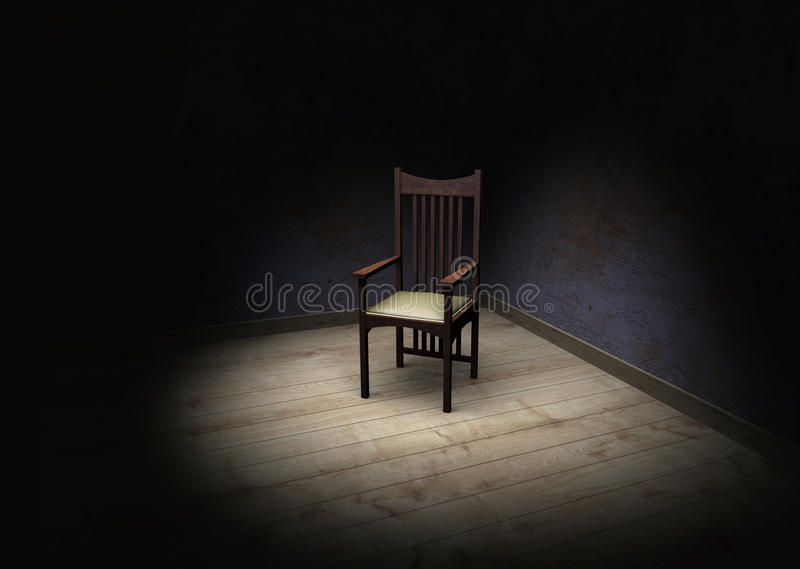 A cadeira ilustração stock