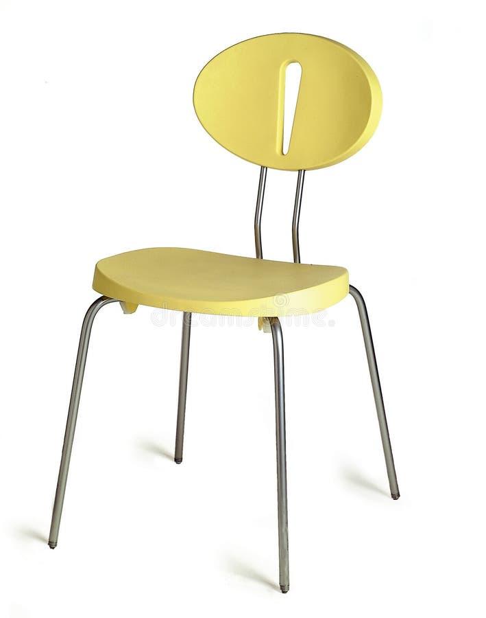 Cadeira amarela imagem de stock
