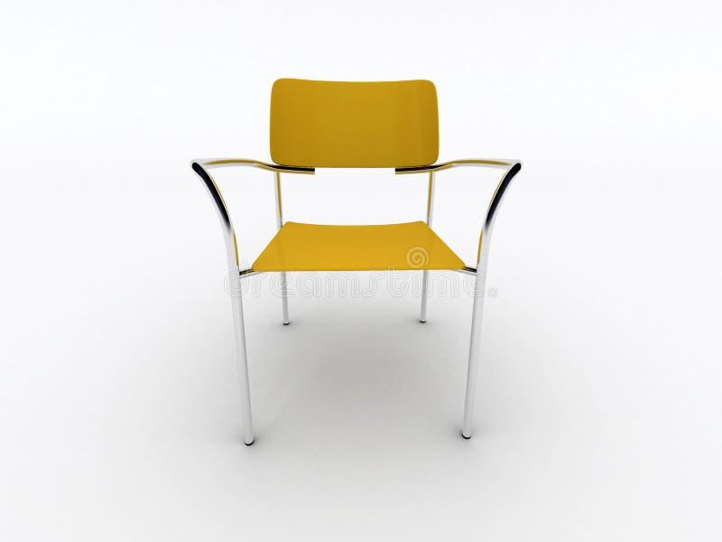 Cadeira amarela ilustração stock