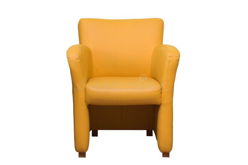 Cadeira amarela fotografia de stock