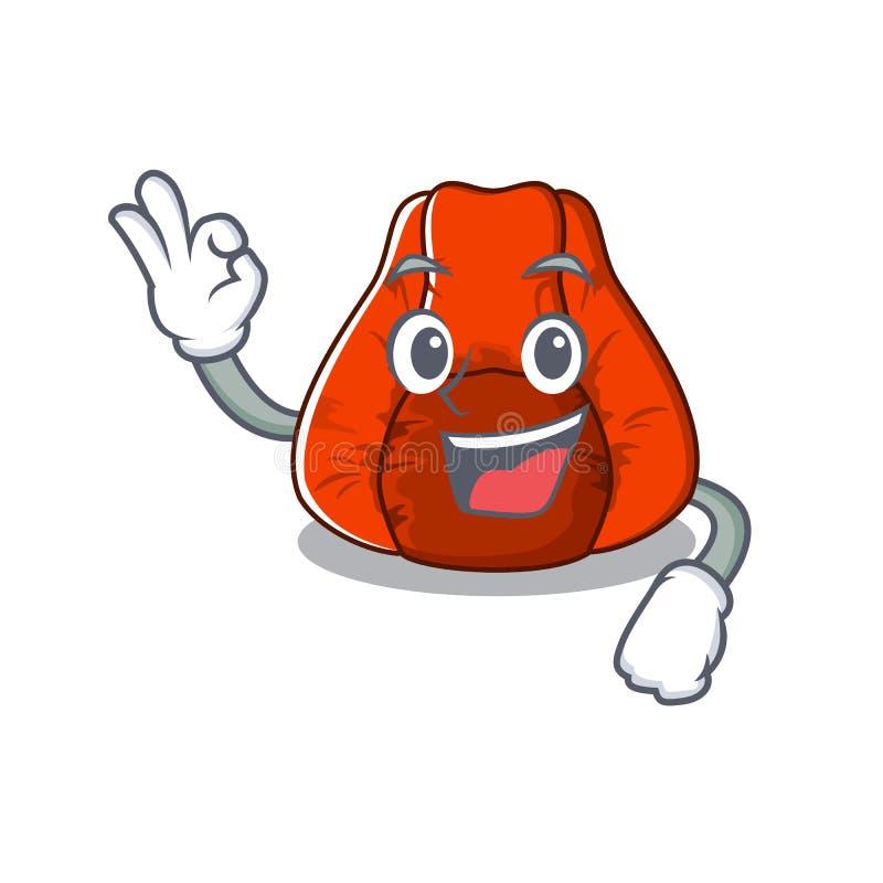 Cadeira aprovada do saco de feijão em um caráter ilustração royalty free