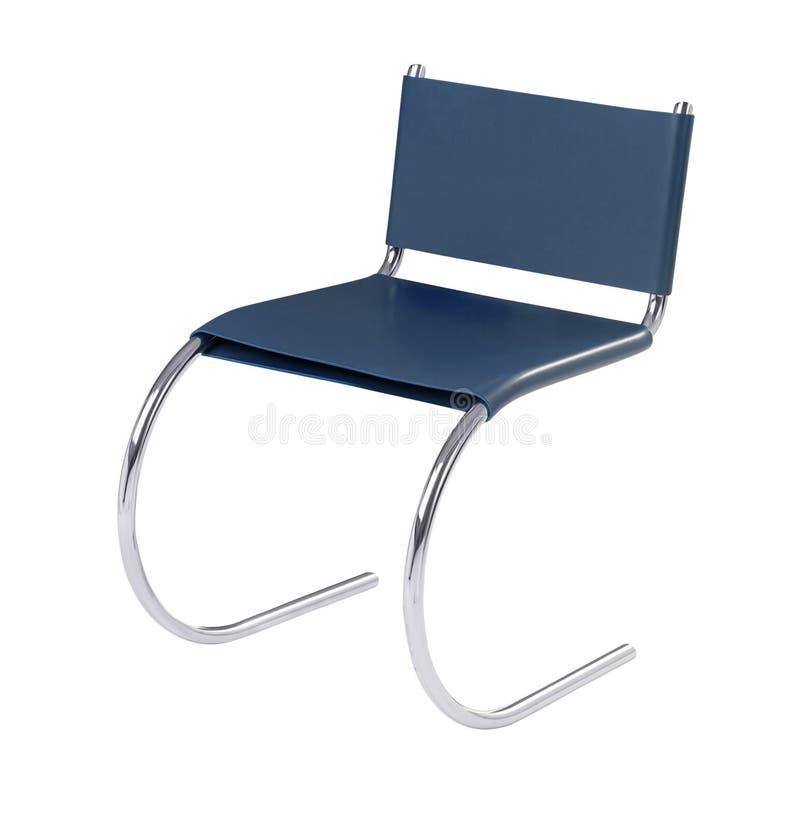 Cadeira azul à moda imagens de stock royalty free