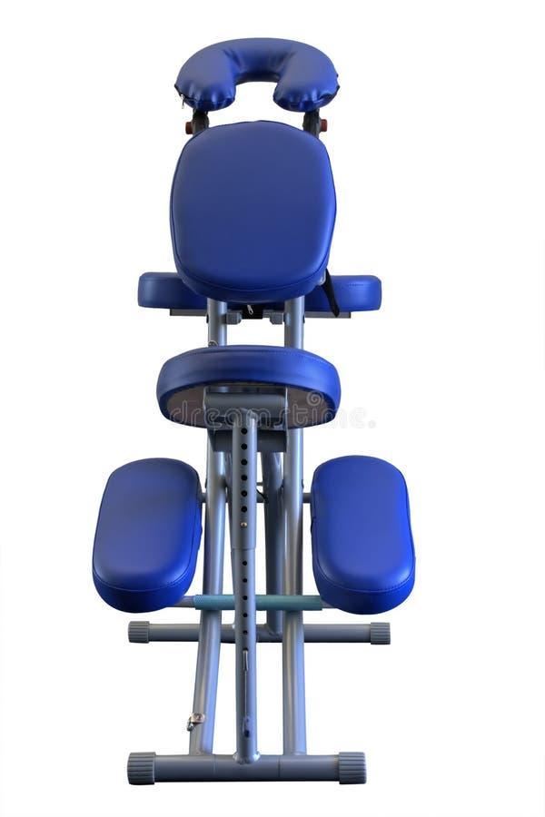 Cadeira azul da massagem (isolada) imagens de stock royalty free