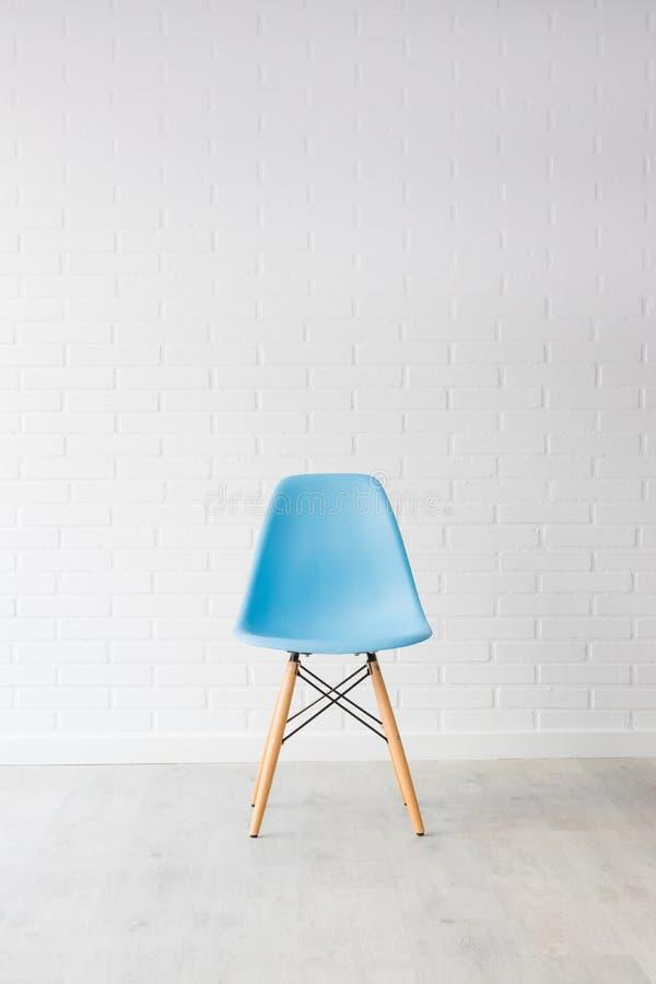 Cadeira azul moderna fotografia de stock