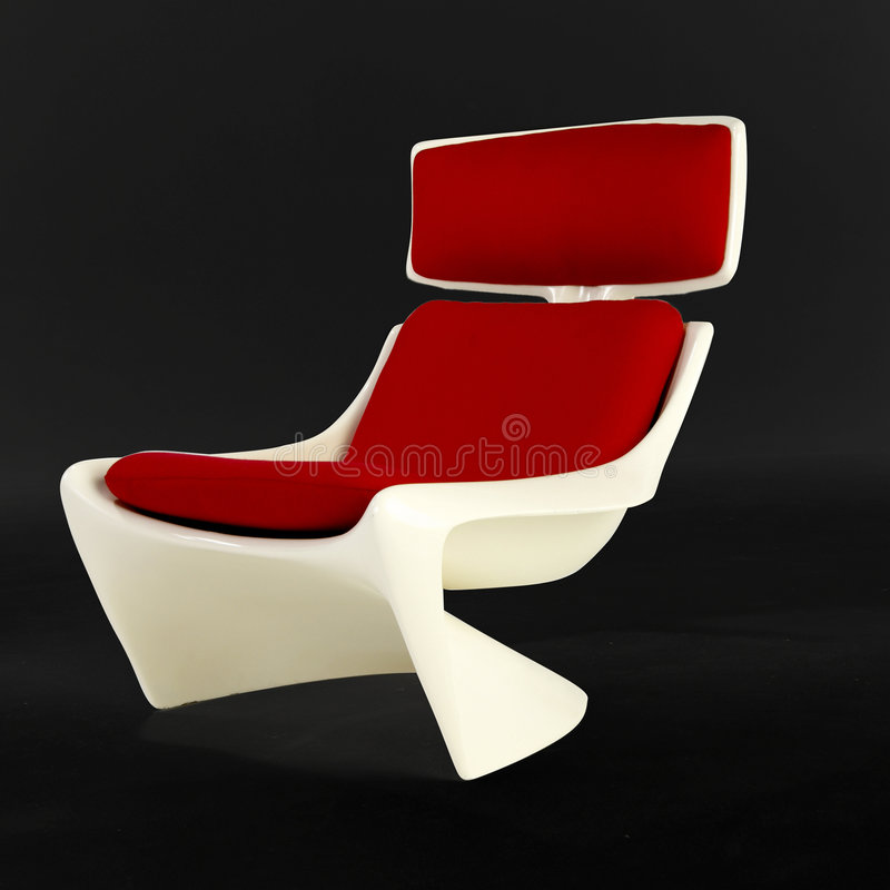 Cadeira branca do projeto moderno imagens de stock royalty free