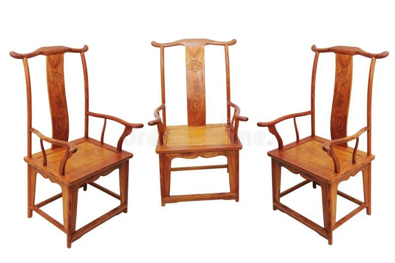Cadeira chinesa da mobília antiga foto de stock