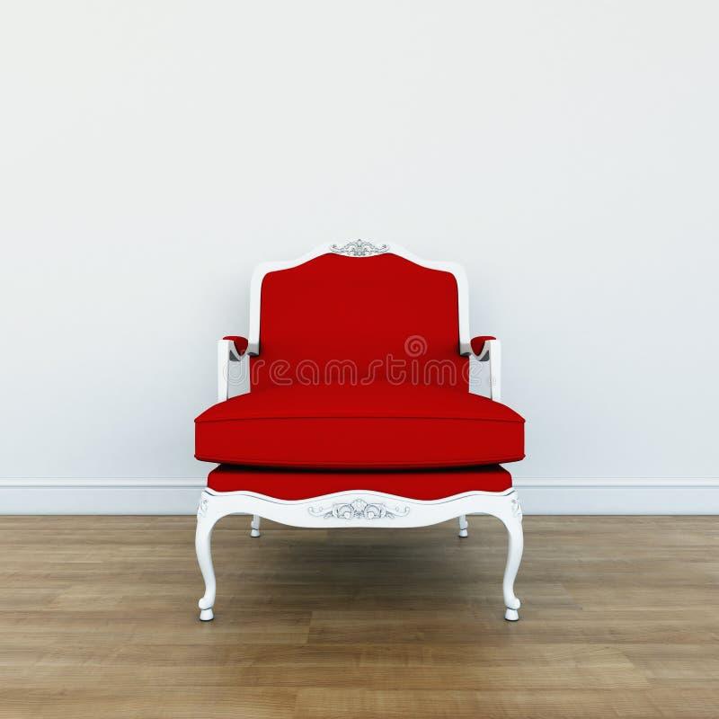 Cadeira clássica no interior ilustração stock