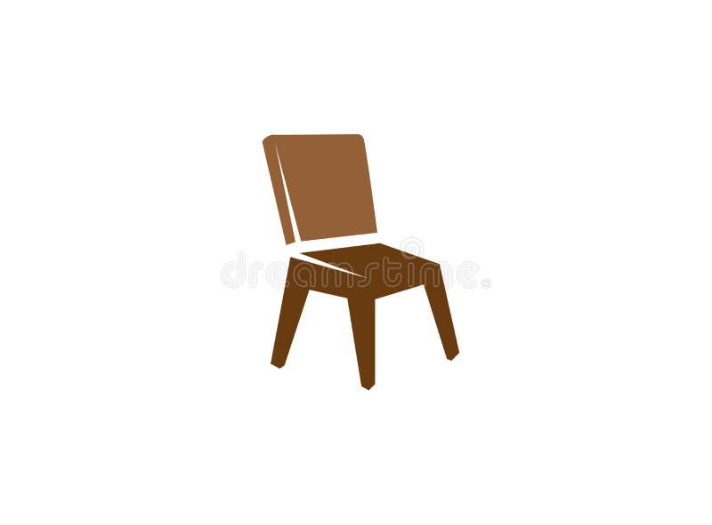 Cadeira clássica sem os braços para o projeto do logotipo ilustração do vetor