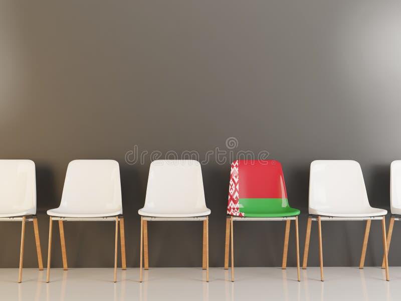 Cadeira com a bandeira de belarus ilustração royalty free
