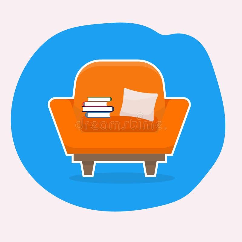 Cadeira com curso branco ilustração stock